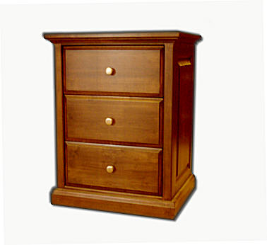 Solid wood bedroom furniture made in san diego for How to make a nightstand higher