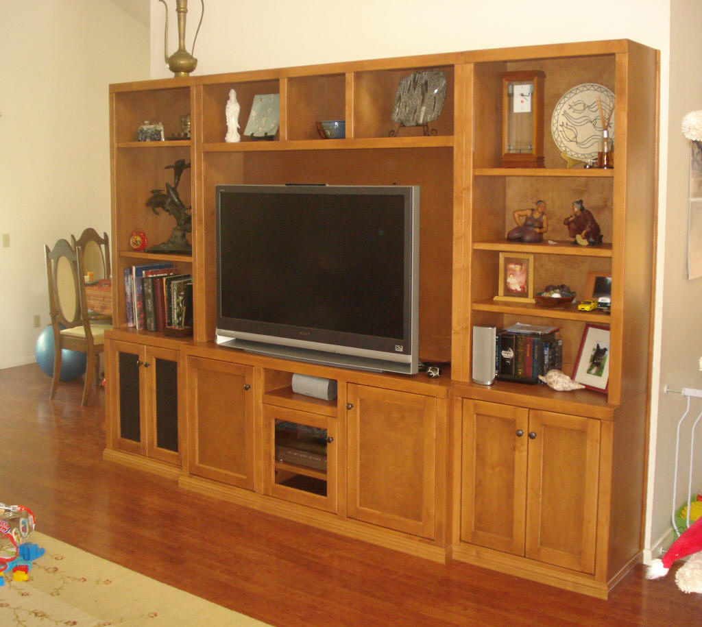 Custom Wall Unit Entertainment Center Cheap