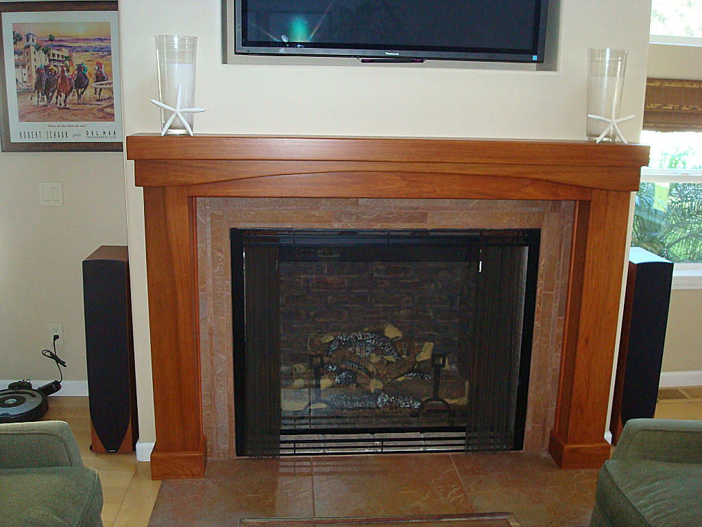 Custom fireplace mantels for Cheap wooden fireplace surrounds
