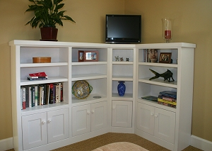 Specially Made, This Corner Unit Bookcase Sectional Was Built To Compliment  The Customers Pre Existing Furniture.